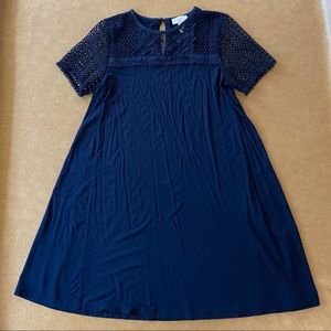 Loft Navy Blue Dress